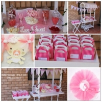 collage - Baby Shower, Girl
